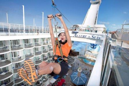 Allure of the Seas vaart vanaf 2015 in Middellandse Zee