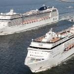 Havenregio Amsterdam: ontmoeting cruiseschepen voor zeesluis