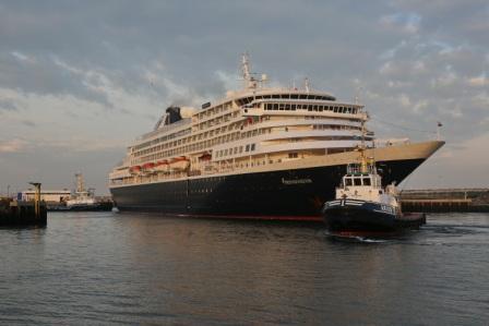 Holland America Line met ms Prinsendam eerste keer in IJmuiden