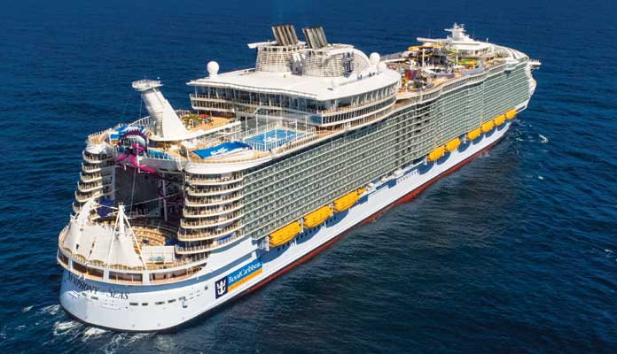 Het grootste cruiseschip ter wereld: Symphony of the Seas © Royal Caribbean International.
