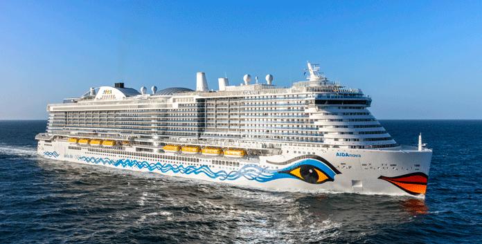 De AidaNova is een van de nieuwste cruiseschepen van AidaCruises. © Aida Cruises