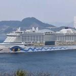 Nieuw vlaggenschip AIDAprima op weg naar doop in Hamburg