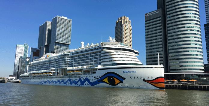 De Aidaprima in Rotterdam © Aida Cruises
