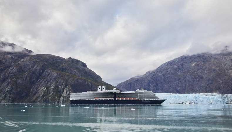 Cruise met de Nieuw Amsterdam van Holland America naar Alaska en bezoek Glacier Bay © Holland America Line.