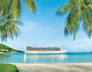 De Caribbean Princess bij Ocho Rios, Jamaica © Princess Cruises
