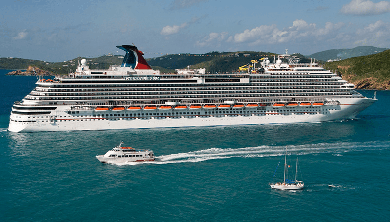 De Carnival Dream gaat vanaf 1 augustus weer cruises maken. © Carnival Cruise Line