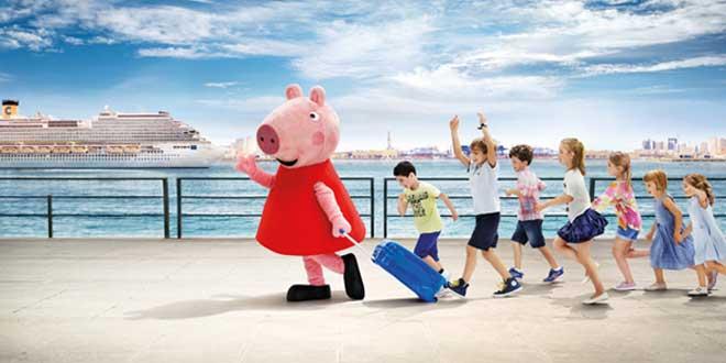 Costa Cruises in Barcelona met Peppa Pig
