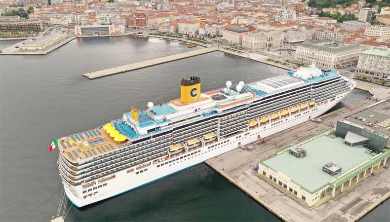 Herstart cruises: De Costa Luminosa maakt in de zomer van 2021 cruises van een week vanuit Triiëste. © Costa Cruises