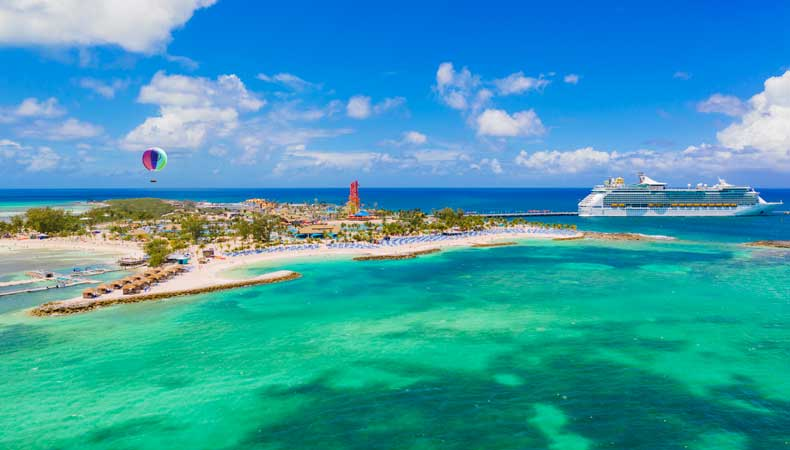 Cruise met Royal Caribbean International naar het privé-eiland in de Caraïben: Coco Cay © Royal Caribbean International