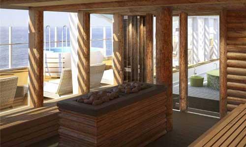 cruisen op de Aida Prima: sauna
