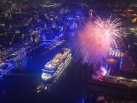 De MSC Grandiosa is zaterdag 9 november 2019 gedoopt in de haven van Hamburg. © MSC Cruise/ Vallbracht