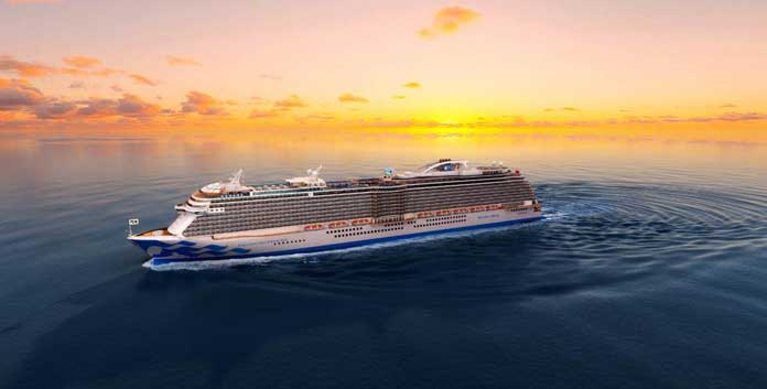 De Sky Princess en Enchanted Princess zien er nagenoeg identiek uit. Artist impression © Princess Cruises