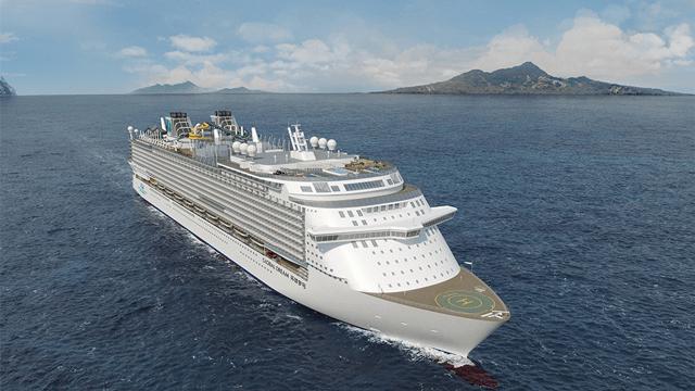 Artist impression van de Global Dream © Dream Cruises