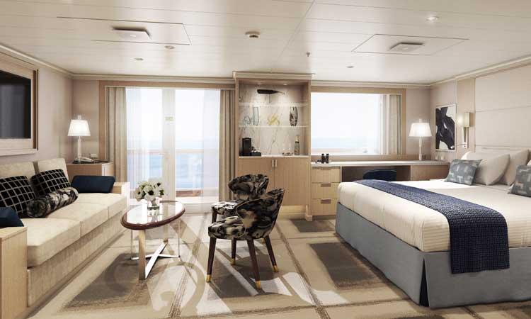 Neptune suite op de Rotterdam van Holland America Line © Holland America Line
