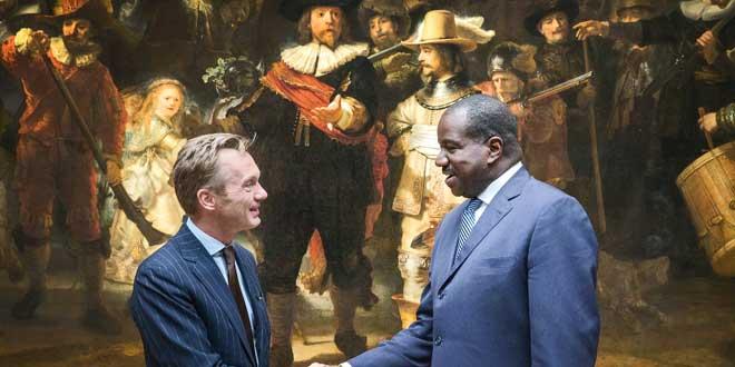 Wim Pijbes van het Rijksmuseum en Orlando Ashford, President van Holland America Line.