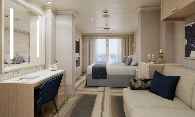 Vista suite op de Rotterdam van Holland America Line © Holland America Line