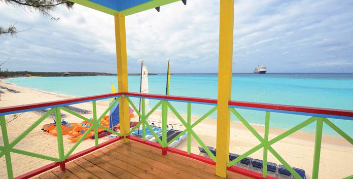 Half Moon Cay, het privé-eiland van Holland America Line op de Bahama's. © Holland America Line