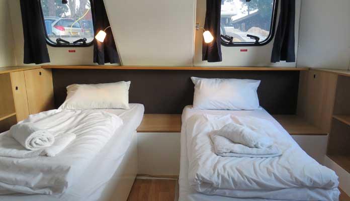 De Royal Mystique van Le Boat heeft twee ruime hutten © Nico van Dijk