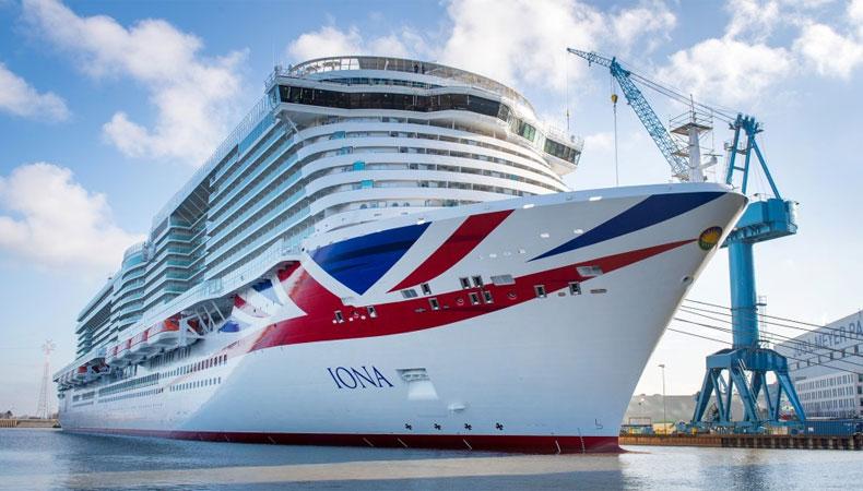 De Iona, hier nog bij de Meyer Werft in Papenburg, is het nieuwste cruiseschip van P&O Cruises © Meyer Werft