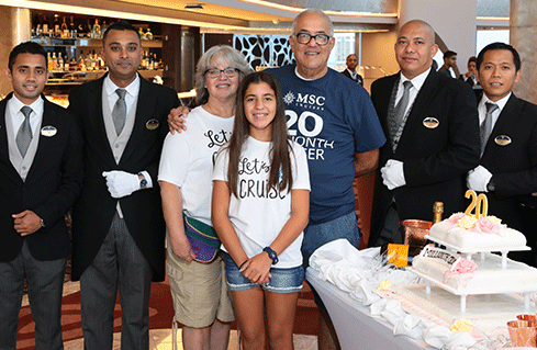 MSC Cruises vervoert 20 miljoenste cruisepassagier