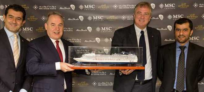 MSC naar Abu Dhabi