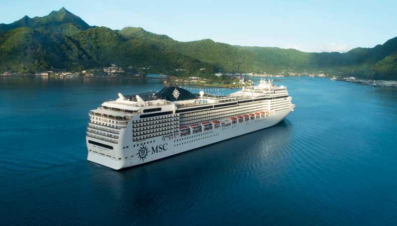 De MSC Magnifica maakt in de winter van 2021-2022 cruises in de Rode Zee. © MSC Cruises
