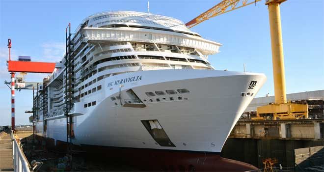 MSC Meraviglia float out
