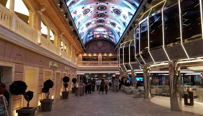 De Galleria op de MSC Meraviglia wordt nog groter op de MSC Virtuosa © Nico van Dijk