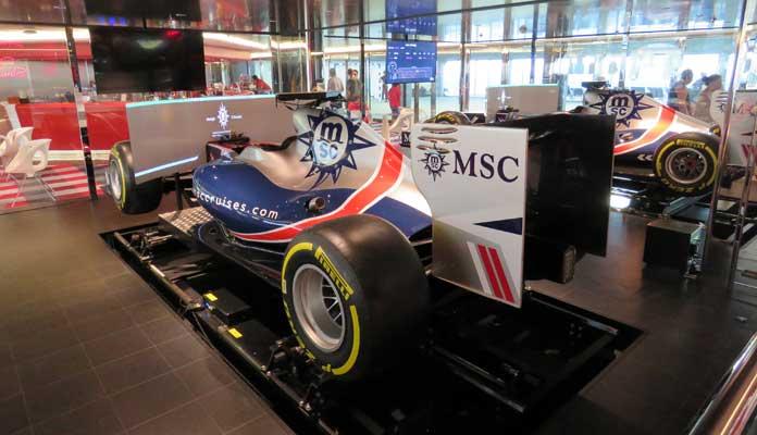Racesimulator op de MSC Meraviglia en MSC Grandiosa © Nico van Dijk