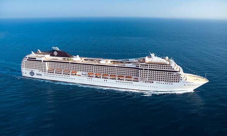 De MSC Orchestra van MSC Cruises is een cruiseschip uit de Musica-klasse. © MSC Cruises