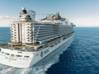 De MSC Seashore is een verdere ontwikkeling van de MSC Seaside. © MSC Cruises