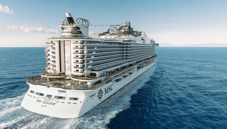 De MSC Seaside gaat cruises maken in de Middellandse Zee. © MSC Cruises