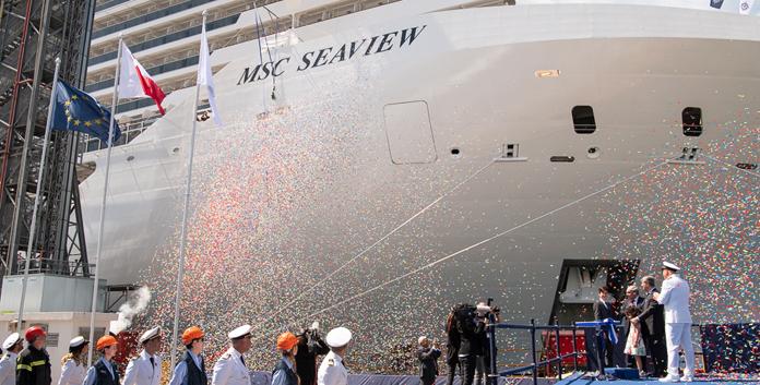 Overhandigingsceremonie MSC Seaview © MSC Cruises
