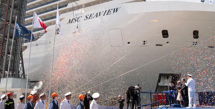 Overhandigingsceremonie MSC Seaview © MSC Cruises