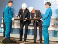 Het eerste staal voor de MSC Virtuosa werd in juni 2018 gesneden © MSC Cruises.