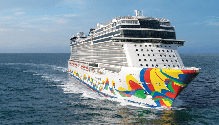 De nieuwe Norwegian Encore © Norwegian Cruise Line.