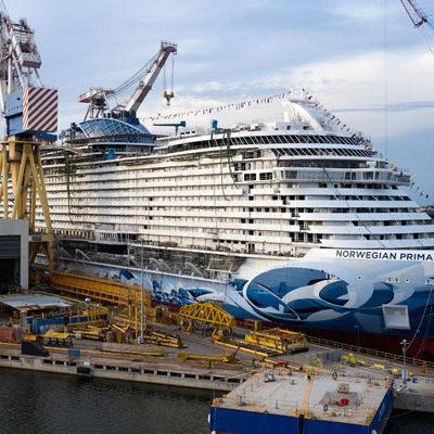 Norwegian Prima is te water gelaten en maakt in 2022 vanuit Amsterdam een maiden cruise
