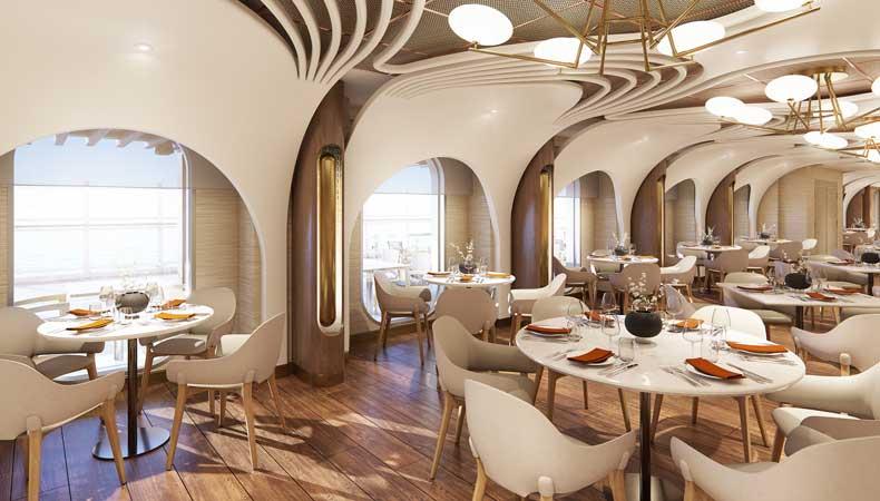 Het Italiaanse specialiteitenrestaurant Onda by Scarpetta komt op Norwegian Prima terug. © Norwegian Cruise Line