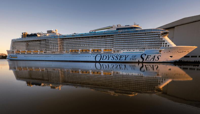 De Odysseey of the Seas hier bij de Meyer Werft in Papenburg, is een Quantum Ultra-schip. © Royal Caribbean International.