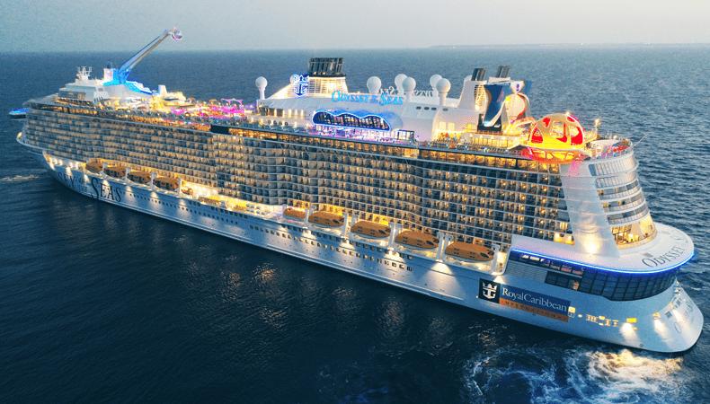 Het cruiseschip Odyssey of the Seas van Royal Caribbean maakt in juli 2021 haar eerste cruises vanuit Amerika. © Royal Caribbean