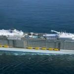 Uitzicht in een bol op een Quantum cruiseschip