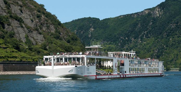 Een zogeheten 'longship' van Viking River Cruises op de Rijn. Parijs wil ook meer van dit soort schepen ontvangen. © Viking River Cruises