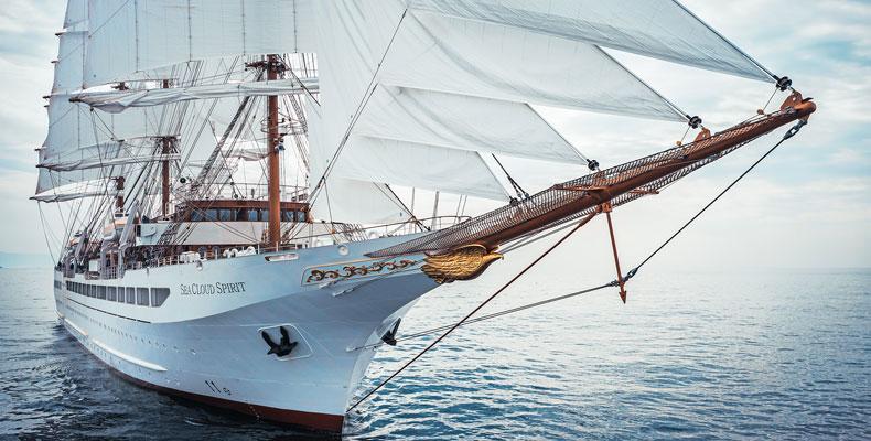 Het nieuwe cruiseschip Sea Cloud Spirit van cruiserederij Sea Cloud ©  Sea Cloud