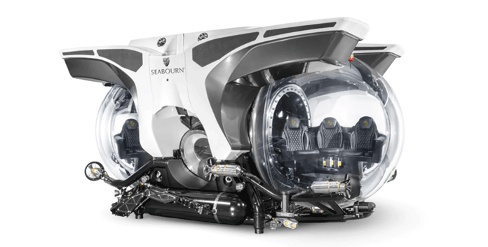 Een van de speciaal voor Seabourn ontworpen onderzeeboten. © Seaboun Cruise Line