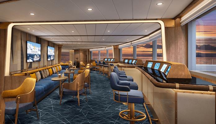 De Bow Lounge op de Seabourn Venture © Seabourn