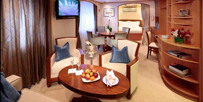 Admiral Suite SeaDream I en II © SeaDream Yacht Club
