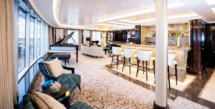 Suite op de Seven Seas Explorer © Regent Seven Seas Cruises.