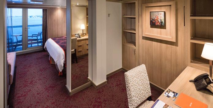 Signature suite op de Nieuw Statendam en de Koningsdam © Holland America Line