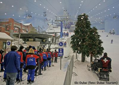 Cruise naar Dubai: ski Dubai