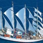 Op cruise met Star Clippers zeilschepen